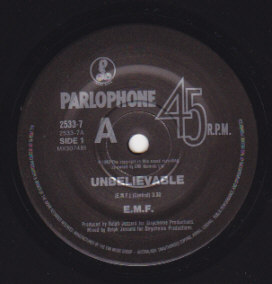 Unbelievable / E.M.F. Live At The Bilson
