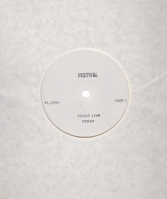 Texas Live Real To Reel - WHITE LABEL TEST PRESSING
