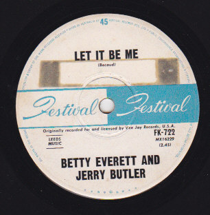 Let it be me / Ain't that loving you baby