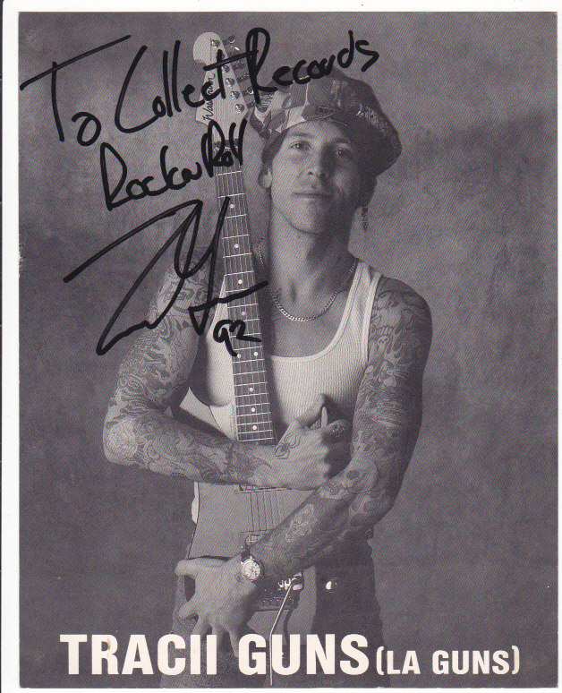Tracii Guns Publicity Photo SIGNED